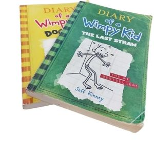 Diary Of A Wimpy Kid Set Of Two Soft Cover Books